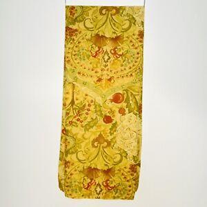 Rare Pottery Barn Delphine Pomegranate Pattern Cotton Fabric Shower Curtain