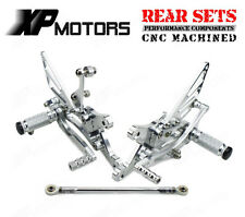 Rearsets Foot Pegs Adjustable Rear Sets For Yamaha YZF-R1 1998 1999-2003 Silver