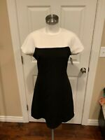 "Kate Spade New York ""Tala"" Black & White Colorblock Fit & Flare Dress, Sz 6 NWT!"