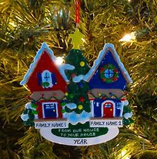 Neighbors 'From Our House To Yours'  Personalized Christmas Tree Ornaments
