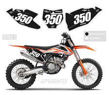 KTM MOTOCROSS BACKGROUNDS NUMBER BOARDS MX GRAPHICS 50 65 85 125 150 250 450