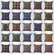 US SELLER-20pcs decorative bed pillows cushion covers Mexican Spanish talavera