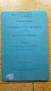 Paläontologie-Geologie Literatur - Erläuterungen Blatt Nr. 6333 Gräfenberg -1958