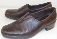 Ecco Womens EU37 US 6/6.5 Brown Leather Slip-on Loafers Casual Work Shoes