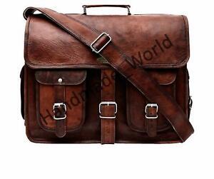 Handmade Rustic Vintage Leather Laptop Messenger Casual Briefcase Bag Satchel
