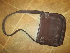VINTAGE  FOSSIL  LEATHER HANDBAG  PURSE  SHOULDER BAG  TOP ZIP EUC L@@K!  CHEAP!