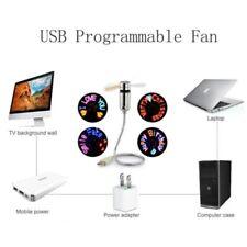 Mini USB LED RGB Programmable Fan for PC Laptop Notebook Desktops Flexible Fan