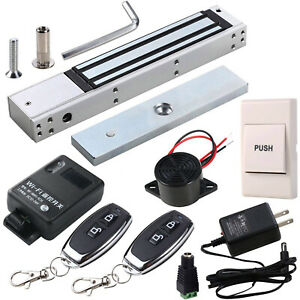 Access Control Kit with 280kg Magnetic Lock Exit Button WiFi Remote & Buzzer