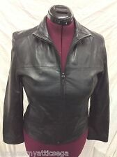 Colebrook & Co Outerwear Black Leather Jacket Womens Small