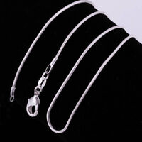 "Women 925sterling Solid Silver lots 1mm Snake Chain Necklace 16-30"" Wedding Gift"
