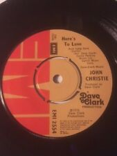 """JOHN CHRISTIE 7"""" - HERE'S TO LOVE / OLD ENOUGH TO KNOW BETTER - EMI 2554"""