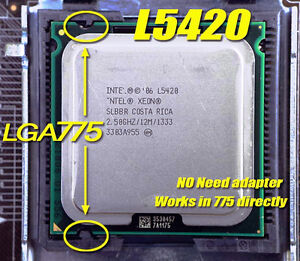 Xeon L5420 LGA775 (Core 2 Quad Q9550) more powerful (FSB 1333) Tdp 50w