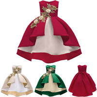 Floral Baby Girl Princess Bridesmaid Pageant Gown Birthday Party Wedding Dresses