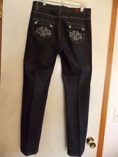 U-51 Woman's Embroidered Jeans Black Size 14