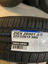 1 New 225 55 18 Falken Ziex ZE001 A/S Tire