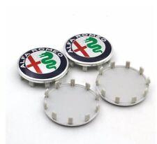 4 Tappi Coprimozzo ALFA ROMEO Brera Giulietta 159 60mm borchie cerchi in lega