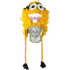 Novelty 100% Wool Minion Despicable Me Style Hand Made Shaggy Hat Kids Adults