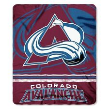 "New NHL Colorado Avalanche Large Soft Fleece Throw Blanket 50"" X 60"""