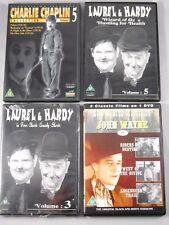 4 x Klassiker im DVD Paket - Dick und Doof - John Wayne - Chaplin - English