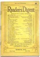 Vintage Readers Digest, March 1937 Vol. 30 #179, The Real Boston Tea Party