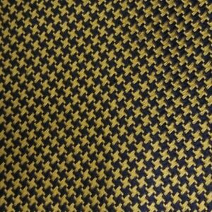 Gold Blue Plaid Silk Tie