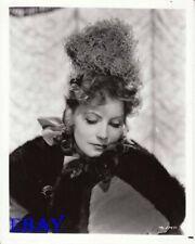 Greta Garbo glances down at her fur coat   RARE Photo
