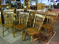 """Fabulous ! """"Set of Eight""""  Antique Victorian Vintage Liverpool Spindle Chairs"""