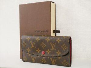 Louis Vuitton M60697 Monogram Portefeiulle Emily purse Brown canvas Auth #4668P