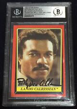 BILLY DEE WILLIAMS LANDO 1983 TOPPS CARD STAR WARS ROTJ JEDI SIGNED BAS BECKETT