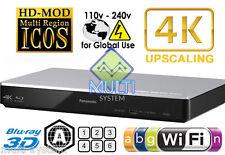 PANASONIC BDT270 ALL REGION FREE BLU-RAY DVD PLAYER - ZONE A, & DVD: 0-9, USB,4K