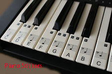 Music Keyboard or Piano Stickers 61 KEY SET Educational clear LAMINATED stickers
