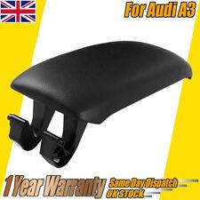 Car Leather Center Console Armrest Lid Cover For Audi A3 8P 2003-2013 Black Hot