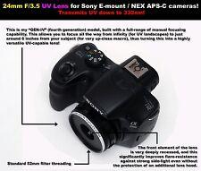 24mm F/3.5 UV lens for Sony E-Mount/NEX APS-C cameras! Ultraviolet photography!