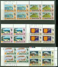EDW1949SELL : JERSEY 1969 Scott #7-20 Blocks of 4 w/o #21. VF, Mint NH. Cat $200