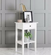 Buy white bedside tables and cabinets ebay white trend bedside cabinet side table watchthetrailerfo
