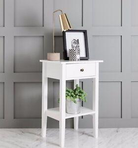 White Trend Bedside Cabinet side table