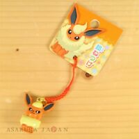 Pokemon Center Original Bell Charm Strap Flareon From Japan
