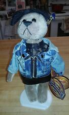 """New Brass Button Bear """"Roxy"""" 12"""" standing with tag"""