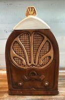 Antique Radio Treasure Craft Cookie Jar