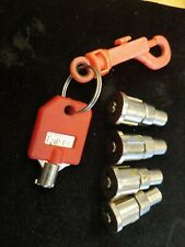 (4) Locks + (1) Red Key T-008 for 1-800 Vending Machine, 1800 Candy Machines