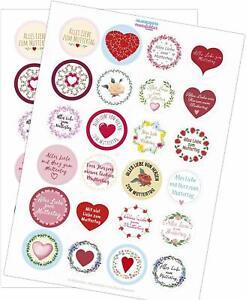 24 Aufkleber im Mix Muttertag Etiketten Mama Sticker Geschenk Danke Fest