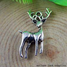 Vintage Silver Alloy Cute Mini Reindeer Shape Pendants Charms Findings 20x 50946