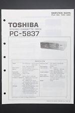TOSHIBA pc-5837 ORIGINAL MANUAL DE SERVICIO/Instrucciones/ESQUEMA conexiones!