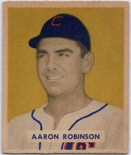 1949 Bowman #133 Aaron Robinson VG-VGEX+ Crease Detroit Tigers Free Shipping