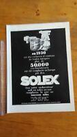 PUBLICITE ANCIENNE - PUB ADVERT 1931 Silexore dos Solex carburateur