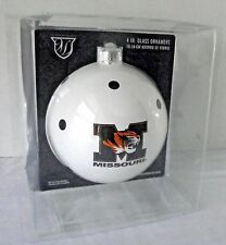 "Missouri Tigers Ornament College Logo Team Glass Round Polka Dots Alumni 4"" NIP"