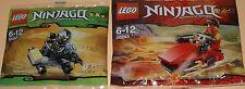 2x Lego Ninjago! Roter Ninja Kai und Schwarzer Ninja Cole mit viel Zubehör OVP