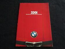 1979 BMW 3 Series 320i E21 Sales Brochure 79 320 i Coupe Catalog US Prospekt