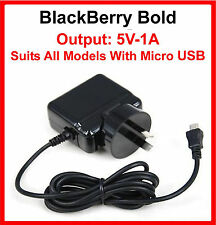 BlackBerry Bold AC Travel Charger Suits 9900 9790 9780 9700 5V-1A Micro USB