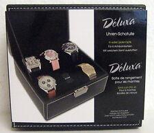 1Edle Uhrenbox für 6 Uhren Uhrenschatulle Schatulle von Deluxa NEU / OVP